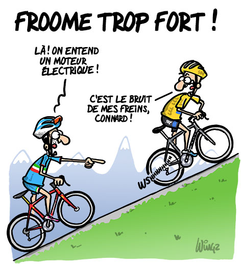 Cyclisme froome trop fort - Dessin cycliste humoristique ...